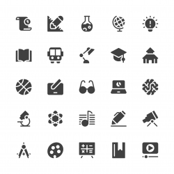Education Icons - Gray Series