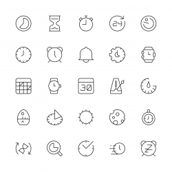 Time Icons - Thin Line Series
