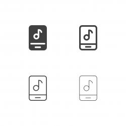 Mobile Music Icons - Multi Series