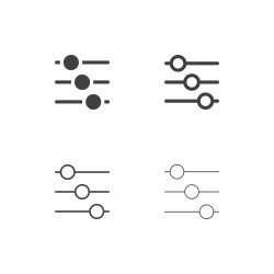 Slide Audio Mixer Icons - Multi Series