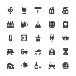 Winery Icons - Gray Series