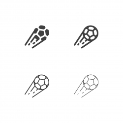 Flying Soccer Ball Icons - Multi Series