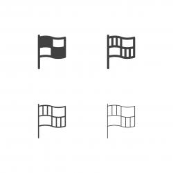 Checkered Flag Icons - Multi Series
