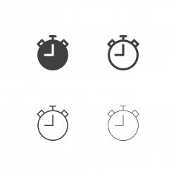 Stopwatch Icons - Multi Series