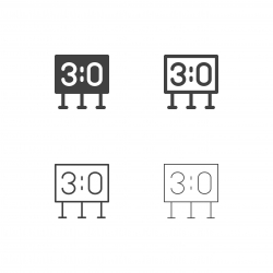 Sport Scoreboard Icons - Multi Series