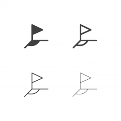 Soccer Corner Flag Icons - Multi Series