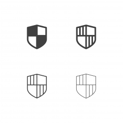 Security Shield Icons - Multi Series