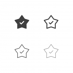 Star with Checkmark Icons - Multi Series