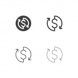 Money Exchange Icons - Multi Series