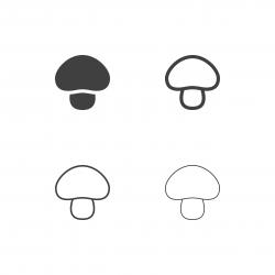 Mushroom Icons - Multi Series