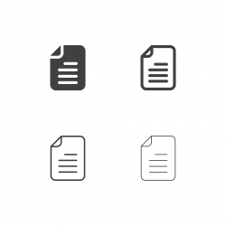 Document File Icons - Multi Series