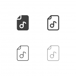 Audio File Icons - Multi Series
