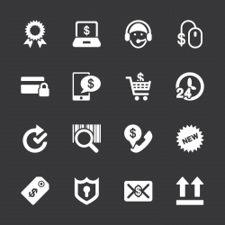Online shopping Icons - White Series | EPS10