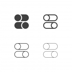 Slide Button Icons - Multi Series