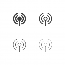 Wireless Access Point Icons - Multi Series