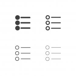 Bullet List Icons - Multi Series