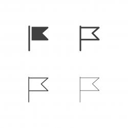 Burgee Flag Icons - Multi Series