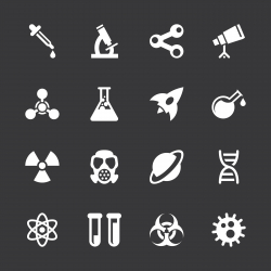 Science Icons - White Series | EPS10