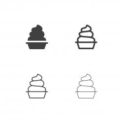 Soft Ice Cream Icons - Multi Series
