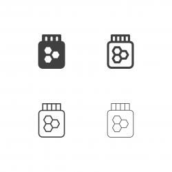 Honey Bee Icons - Multi Series