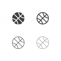 Basketball Ball Icons - Multi Series