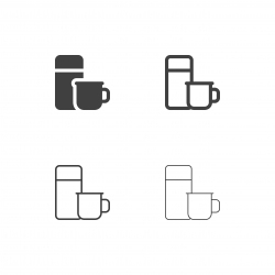 Water Bottle and Cup Icons - Multi Series