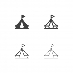 Canvas Tent Icons - Multi Series