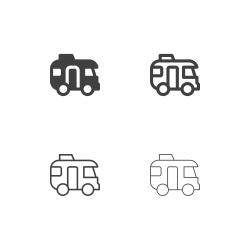 Caravan Car Icons - Multi Series