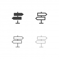 Direction Sign Icons - Multi Series