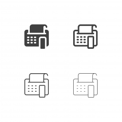 Fax Icons - Multi Series