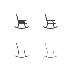 Rocking Chair Icons - Multi Series