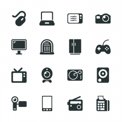 Electronics Silhouette Icons