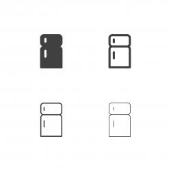 Refrigerator Icons - Multi Series