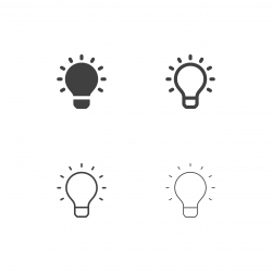 Light Bulb Icons - Multi Series