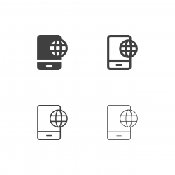 Mobile Global Communication Icons - Multi Series