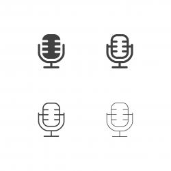 Retro Microphone Icons - Multi Series