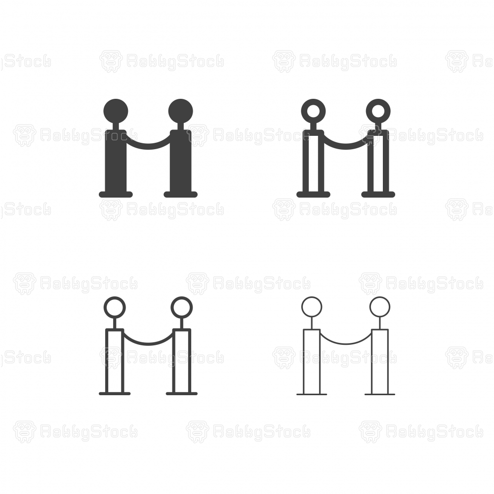 Barrier Rope Icons - Multi Series