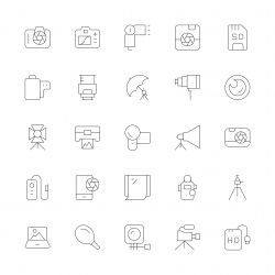 Photography Icons - Ultra Thin Line Series