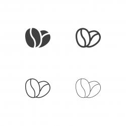 Coffee Bean Icons - Multi Series