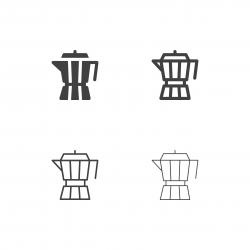 Moka Pot Icons - Multi Series
