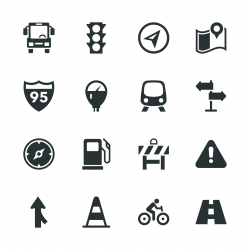 Traffic Silhouette Icons