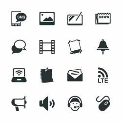 Communication Silhouette Icons | Set 3