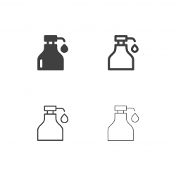 Syrup Bottle Icons - Multi Series
