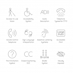 Disabled Accessibility Icons - Ultra Thin Series