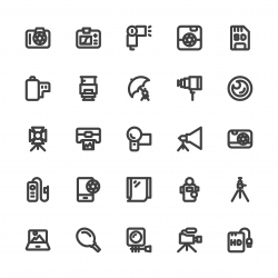 Photography Icons - Bold Line Series