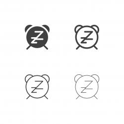 Alarm Clock Icons - Multi Series