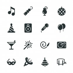 Party Silhouette Icons