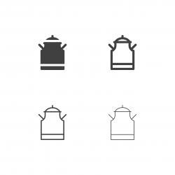 Milk Tank Icons - Multi Series
