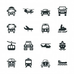 Transportation Silhouette Icons | Set 2