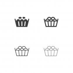 Grape Wooden Bucket Icons - Multi Series